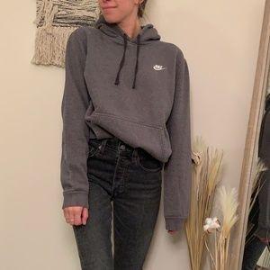 Nike Pullover Gray Hoodie Sweatshirt - Medium